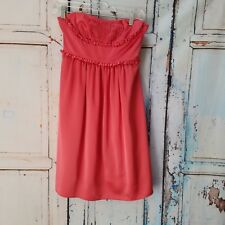 BCBG Max Azria Pink Cocktail Dress SIZE 0 Sweetheart Neck Zip Back Lined Tulle