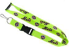 "New York Mets MLB Breakaway Lanyard Key Chain Ring 36"" Long NEON"
