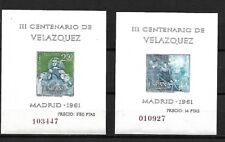 Spain: 1961; Scott 983A - 986A Souvenir sheet, Velazquez, MNH, EBES025