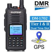 BAOFENG DM-1702 GPS Digital Analog DMR Two Way Ham Radio Tier II Walkie Talkie