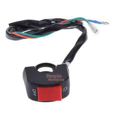 """7/8"""" Motorcycle LED Light Switch Handlebar Mount Switch ON/OFF Button Connector"""