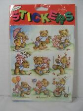 Vtg Gibson Greetings Teddy Hugglesbie Stickers Spring Springtime New 4 Sheets