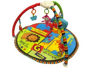 Colourful Baby Playmat Musical Jungle Activity Floor Mat With Sensory Toys