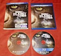 Rise of the Planet of the Apes (Blu-ray + DVD, 2-Disc Set) w/ slip cover *TESTED