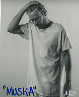 CHAD MUSKA SKATEBOARD LEGEND SIGNED 8x10 PHOTO 3 SKATEBOARDER BECKETT COA BAS