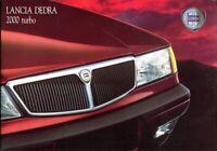 Lancia Dedra 2000 turbo 1991 UK market sales brochure