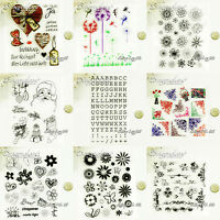 CLEARANCE! Clear Silicone Stamps Unmounted Paper Craft Cardmaking Scrapbooking