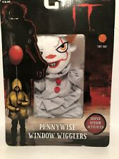 Halloween IT Pennywise The Clown Window Wiggler Decoration Sound Sensor New