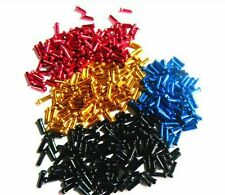 Mtb bike bicycle brake cable end caps crimps 40 pcs/4 colors/10 of each color
