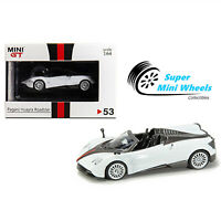 Mini GT PAGANI HUAYRA ROADSTER ( White ) 1/64 HONG KONG EXCLUSIVE