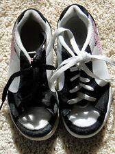 VANS SUTTON SKATE SHOES Girls size 2.0 Black White Sashet Pink