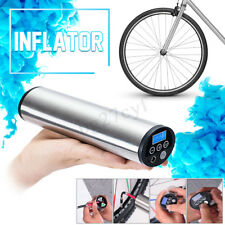 USB Rechargeable LCD Display Air Inflator Electric Car Ride Bike Motocycle Pump