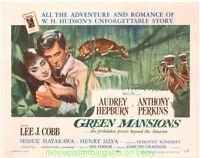GREEN MANSIONS MOVIE POSTER AUDREY HEPBURN Style B Half Shett 22x28 Rare Rolled