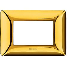 Placca 3m Oro lucido Bticino matix Am4803gor