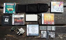 Nintendo-DS Lite Console Blanche - 5 Coffret Jeux Bundle-stylet + chargeur & plus