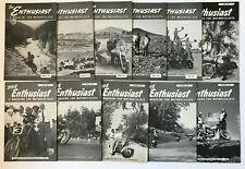 11 Mo 1954 Set The Enthusiast Harley Davidson Motorcycle Magazine Vintage Lot