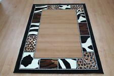 Quality Multi Print Rug 150cm x 100cm Jungle Safari Multi Animal Print Twist Rug