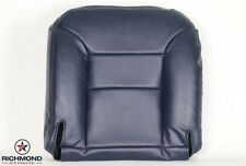 1995-1999 Chevy Suburban Tahoe Diesel Leather C/K -Driver Bottom Seat Cover Blue