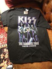 Vintage NOS Large Kiss The Farewell Tour 1973-2000 Black Purple Shirt Size L