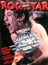 ROCKSTAR -AC/DC -GENESIS -JOHN LENNON    poster ELVIS COSTELLO 1981
