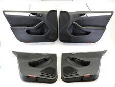 MK6 VW JETTA GLI DOOR CARDS LEATHER AUTOBAHN BLACK PANELS COVERS TRIM SET -637