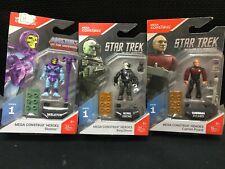 Mega Construx Masters of the Universe Skeletor &Captain Picard & Borg Drone