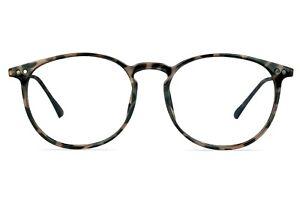 Icy 286 Round Tortoise Shell Glasses with Keyhole Bridge 50-17-140