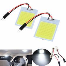 2x White 12V Xenon HID 36 COB LED Dome Map Light Bulb Car Interior Panel Lamp