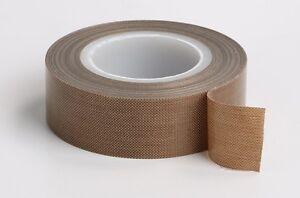 25mm Brown PTFE High Temperature Adhesive Tape 10 Meter Long