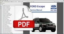 FORD ESCAPE 2001 2002 2003 2004 2005 2006 SERVICE REPAIR WORKSHOP FSM MANUAL
