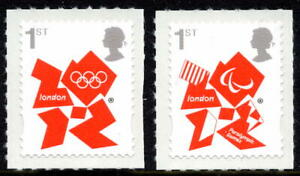 2012 SG 3250 & SG 3251 1st Class Olympic & Paralympic Games Unmounted Mint