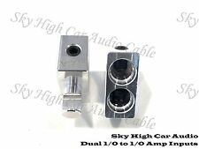 Pair Sky High Car Audio DUAL 1/0 Gauge to 1/0 Gauge Amp Inputs Reducers Input