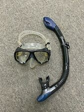 Preowned Diving Set Scuba Goggles and Snorkeling Mask Tube (Black/Clear)