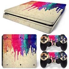 Playstation 4 PS4 Slim Skin Vinyl Design Folie Aufkleber Schutz Sticker FARBEN