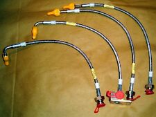 Brake hose kit set, s/s braided, Mazda MX5 mk2 NB 98-05, MX-5 stainless steel