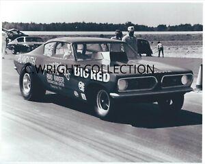 """Vintage NHRA Drag Racing-""""BIG RED""""-'68 Cuda-Dave Lewis-Dan Smoker-Pocono Raceway"""