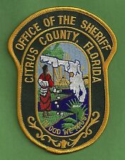 CITRUS COUNTY SHERIFF FLORIDA POLICE PATCH