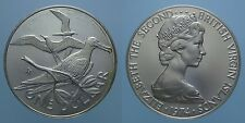 THE BRITISH VIRGIN ISLANDS 1 DOLLARO 1974 FM ELISABETTA II SILVER PROOF 3