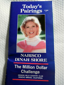 DINAH SHORE NABISCO ~ THE MILLION DOLLAR CHALLENGE GOLF BROCHURE APRIL 7, 1985.