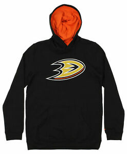 Reebok Hockey NHL Youth Anaheim Ducks Prime Basic Pullover Hoodie, Black