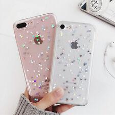 Slim Silikon für iPhone 6 6S 7 Plus Case Handy Schutz Hülle Glitzer Herz Cover