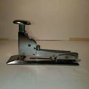 Vintage Ace Model 102 Metal Stapler Fastener Chrome Industrial Art Deco Office