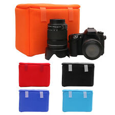 Shockproof Camera Lens Case Pouch Insert Cushion Partition Padded Bag For DSLR