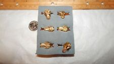 27 Vintage Gold Plate Pineapple Pins   Us Made