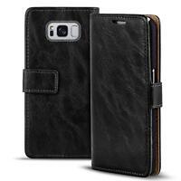 Handy Tasche Samsung Galaxy S8 Flip Cover Case Schutz Hülle Wallet Premium Etui