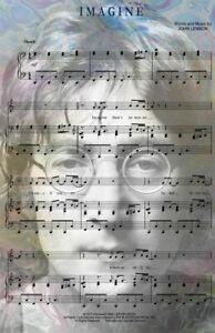 Imagine John Lennon Music Art 11 x 17 High Quality Poster