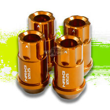 4X NRG M12 X1.25 OPEN END ALUMINUM 12PT LUGNUT/RIM LOCK FOR SUBARU NISSAN GOLD