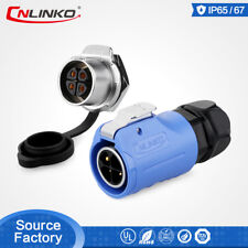 CNLinko M20 4 Pin Male Plug Female Socket Waterproof Connector For Led Display