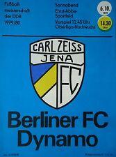 Programm 1979/80 FC Carl Zeiss Jena - BFC Dynamo
