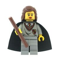 Harry Potter NEW Minifig Hermione Granger Gryffindor & Wand Custom Using LEGO